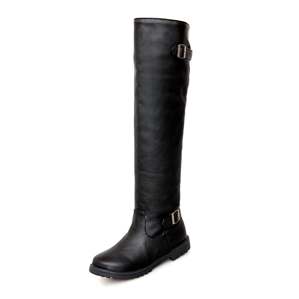 thigh high boots boots buckle pu leather shoes on luulla